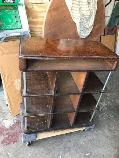 1940's Walnut Stand - Click Image to Close